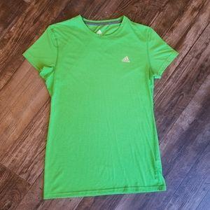 Adidas CLIMALITE Green T-Shirt